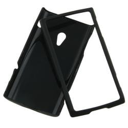 BasAcc Black Rubber Coated Case for Sony Ericsson Xperia X10