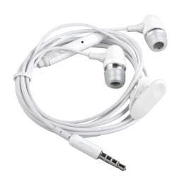 INSTEN 3.5mm White In-ear Stereo Headset with ON/ OFF Switch