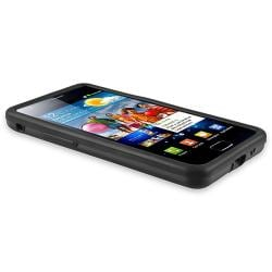 Black Skin/ Black Aluminum Hybrid Case for Samsung Galaxy i9100