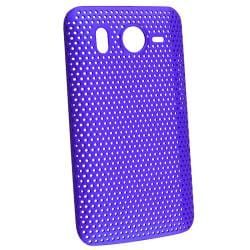 Blue Meshed Rear Snap-on case for HTC Inspire 4G/ Desire HD
