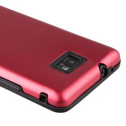 Black Skin/ Red Aluminum Hybrid Case for Samsung Galaxy S II i9100