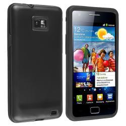 Black Skin/ Black Aluminum Hybrid Case for Samsung Galaxy i9100