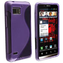 Clear Purple S Line TPU Case for Motorola Droid Bionic Targa XT875