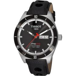 Tissot Men's 'PRS 516' Black Dial Black Leather Strap Automatic Watch