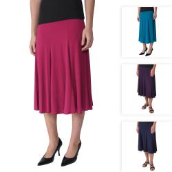 Journee Collection Women&#39;s Flowing Knit Flare Skirt
