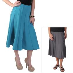 Journee Collection Women&#39;s Long Flowing Panel Skirt