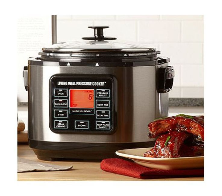 Montel Williams Living Well 5-quart Stainless Steel Pressure Cooker (Refurbished)