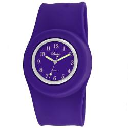 Breda Women's 'Lilly' Slap-on Purple Silicone Watch
