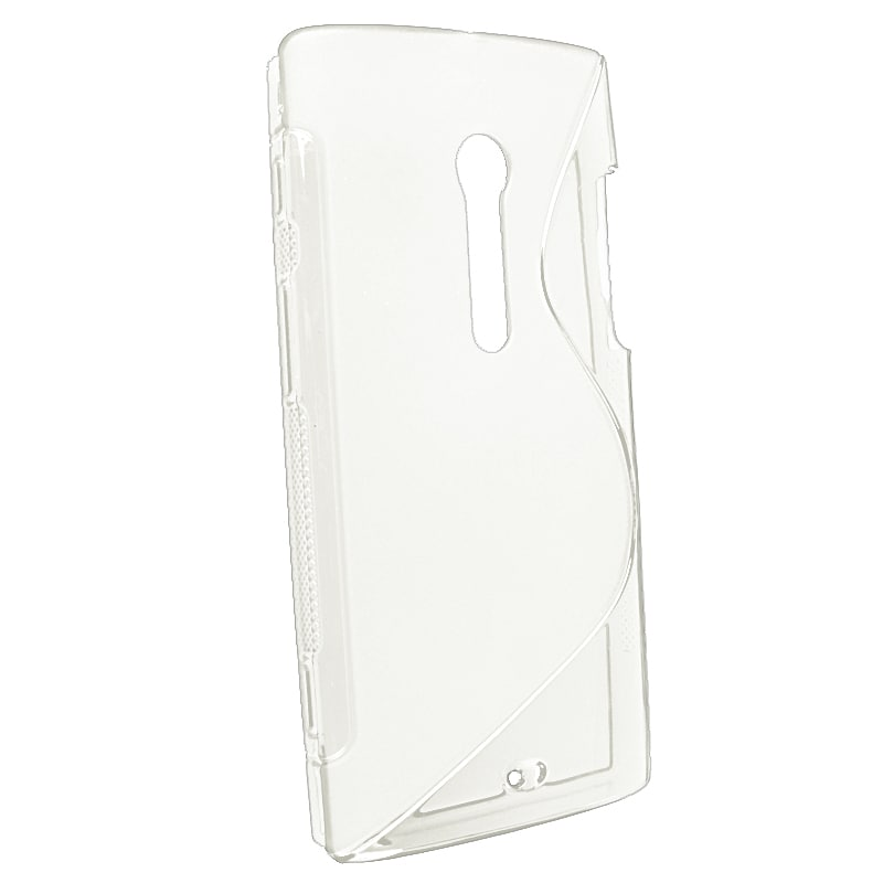 Clear S Shape TPU Rubber Skin Case for Sony Ericsson Xperia Ion LT28at