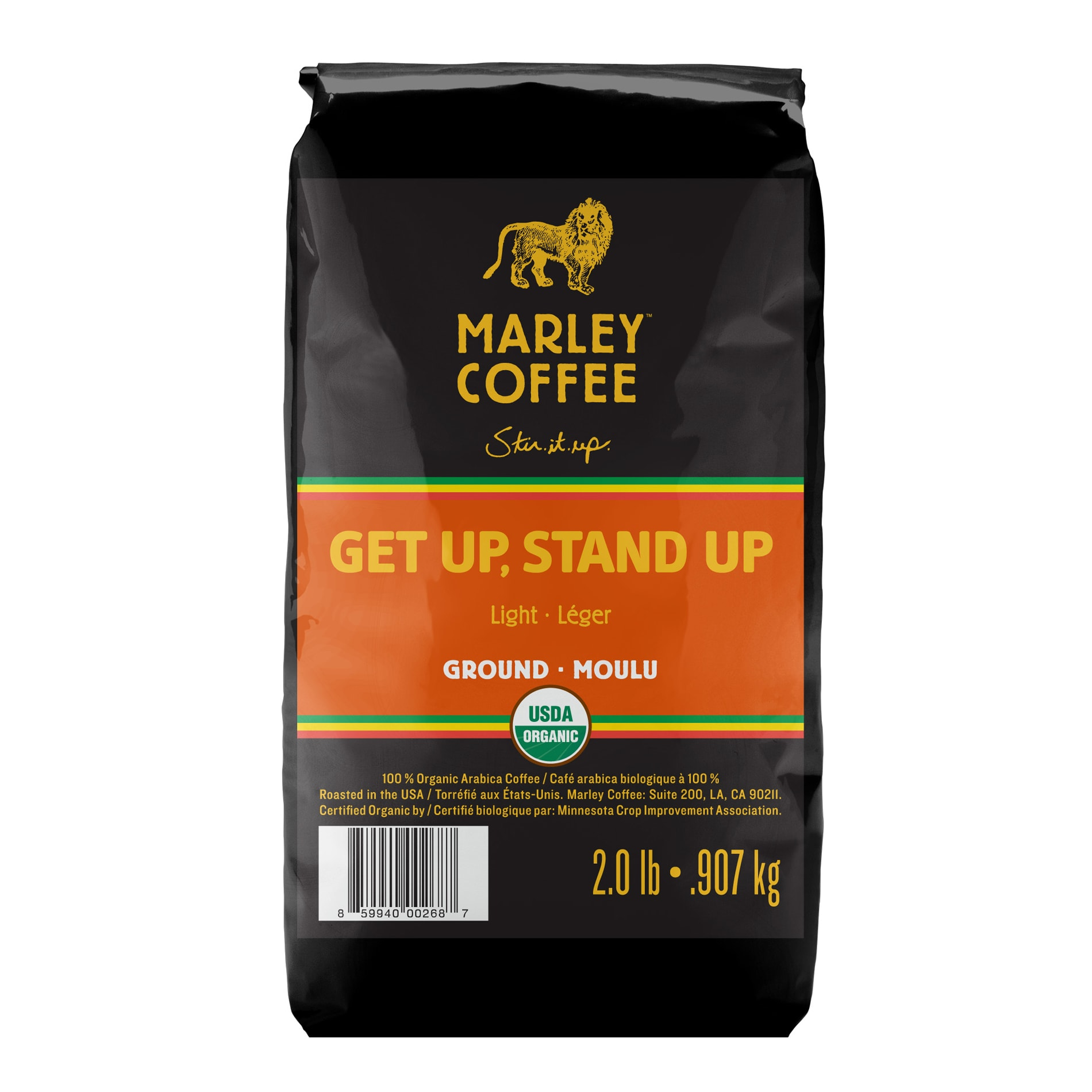Marley Coffee Get Up Stand Up Ground Coffee (2 Pounds)