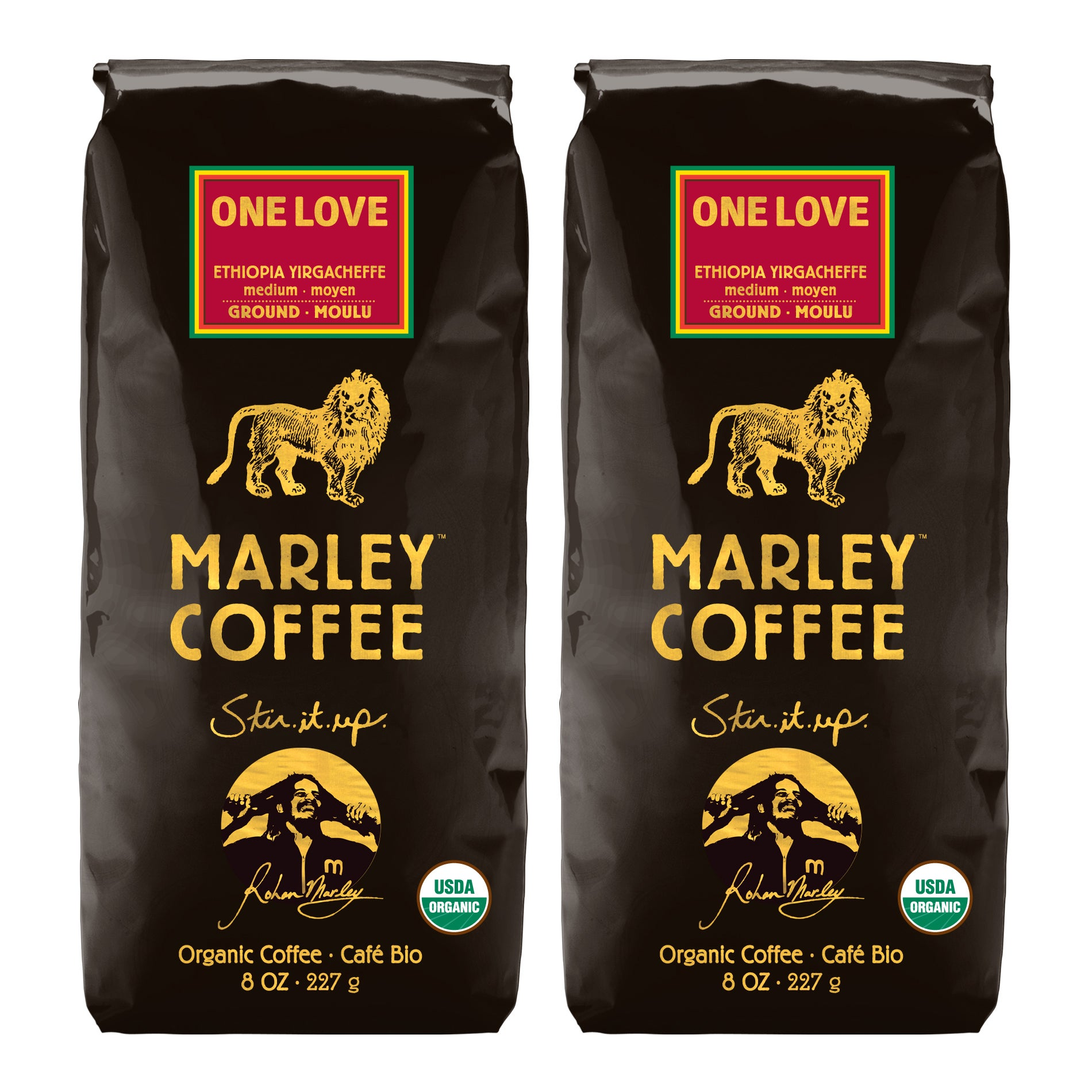 Marley Coffee One Love Ethiopia Yirgacheffe Ground Coffee (1 Pound)