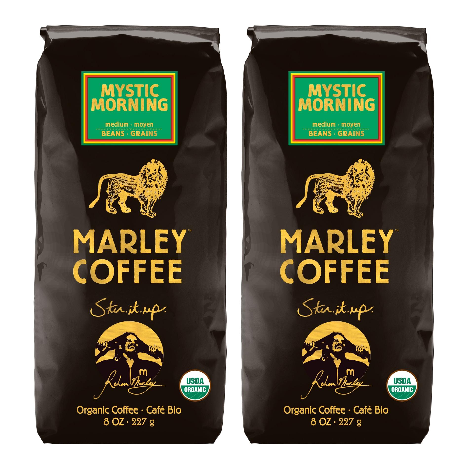 Marley Coffee Mystic Morning Whole Bean Coffee (1 Pound)