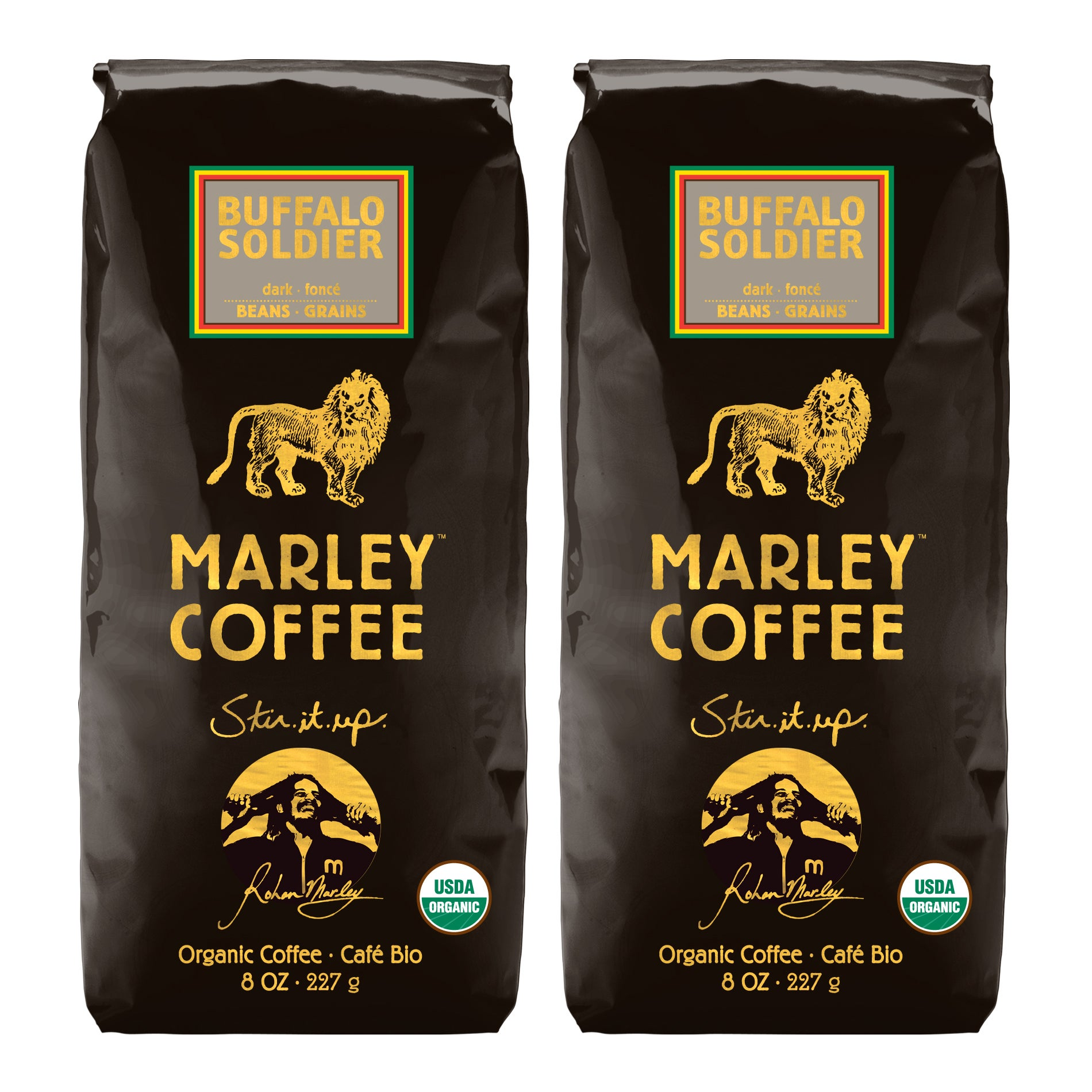 Marley Coffee Buffalo Soldier Whole Bean Coffee (1 Pound)