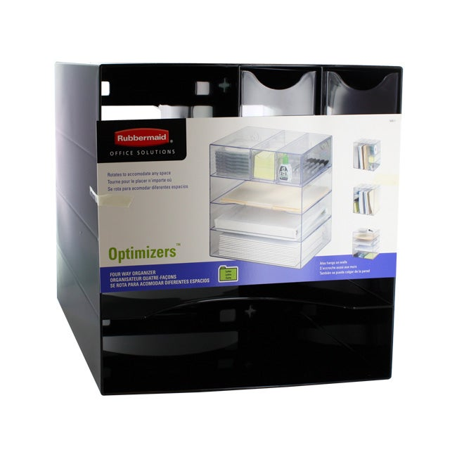 Rubbermaid optimizer 4 way organizer with drawer - Rubbermaid desk organizer ...