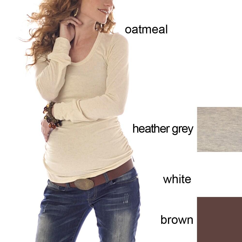Lilac Clothing Women's Maternity Longsleeve Hailey Top