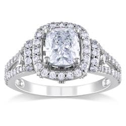 Miadora 14k White Gold 1 3/4ct TDW Certified Diamond Engagement Ring (I, VS1)