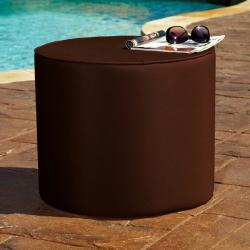 Brooklyn Brown 16-inch Indoor/ Outdoor Round Sunbrella Ottoman
