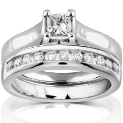 14k White Gold 5/8ct TDW Diamond Bridal Ring Set (H-I, SI1-SI2)