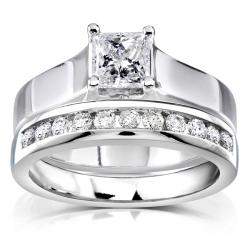 14k White Gold 4/5ct TDW Diamond Bridal Ring Set (G-H, I1-I2)