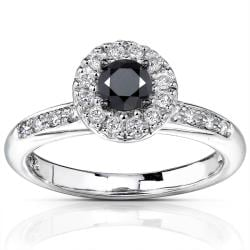 14k Gold 3/5ct TDW Black and White Diamond Ring (H-I, I1-I2)