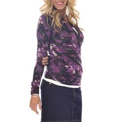 Lilac Clothing Women's Karen Marble Print Top