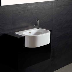 Bissonnet 'Form' Semi-Recessed Bathroom Ceramic Sink