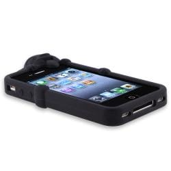 Black Dog Case/ Screen Protector/ Headset Wrap for Apple iPhone 4/ 4S