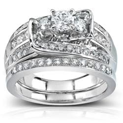 14k White Gold 1 1/10ct TDW Diamond Bridal Rings Set (G-H I1-I2)