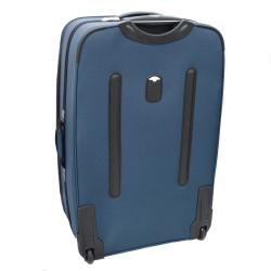 Kemyer Malibu Blue 4-piece Expandable Upright Luggage Set