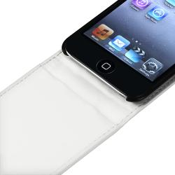 White Leather Case for Apple iPod Touch 4th Generation