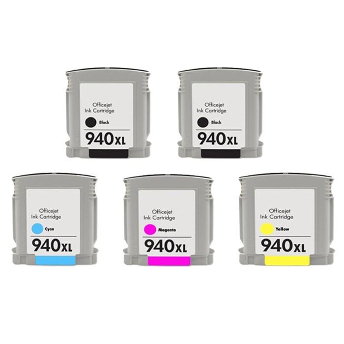 Hewlett Packard 940XL Ink Cartridge Combo (Pack of 5) ( Remanufactured)