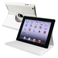 White Crocodile 360-degree Swivel Leather Case for Apple iPad 2/ 3