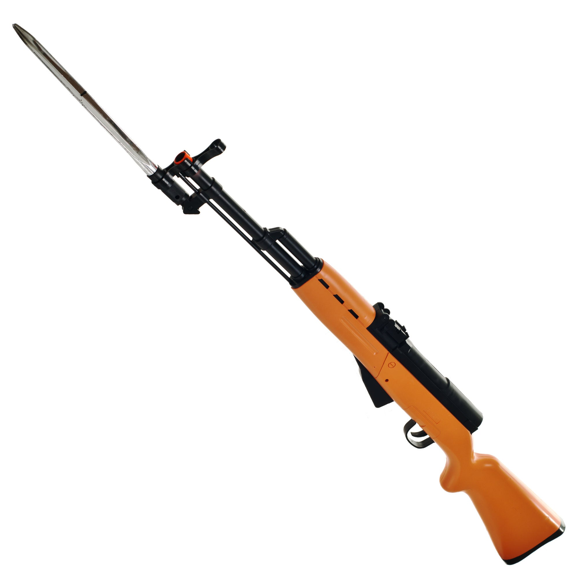 Whetstone Black/Orange Plastic/Metal AK47 Airsoft Rifle Replica