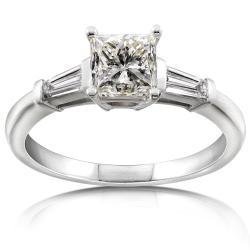 14k Gold 1 2/5ct TDW Certified Diamond Engagement Ring (J-K, SI2)