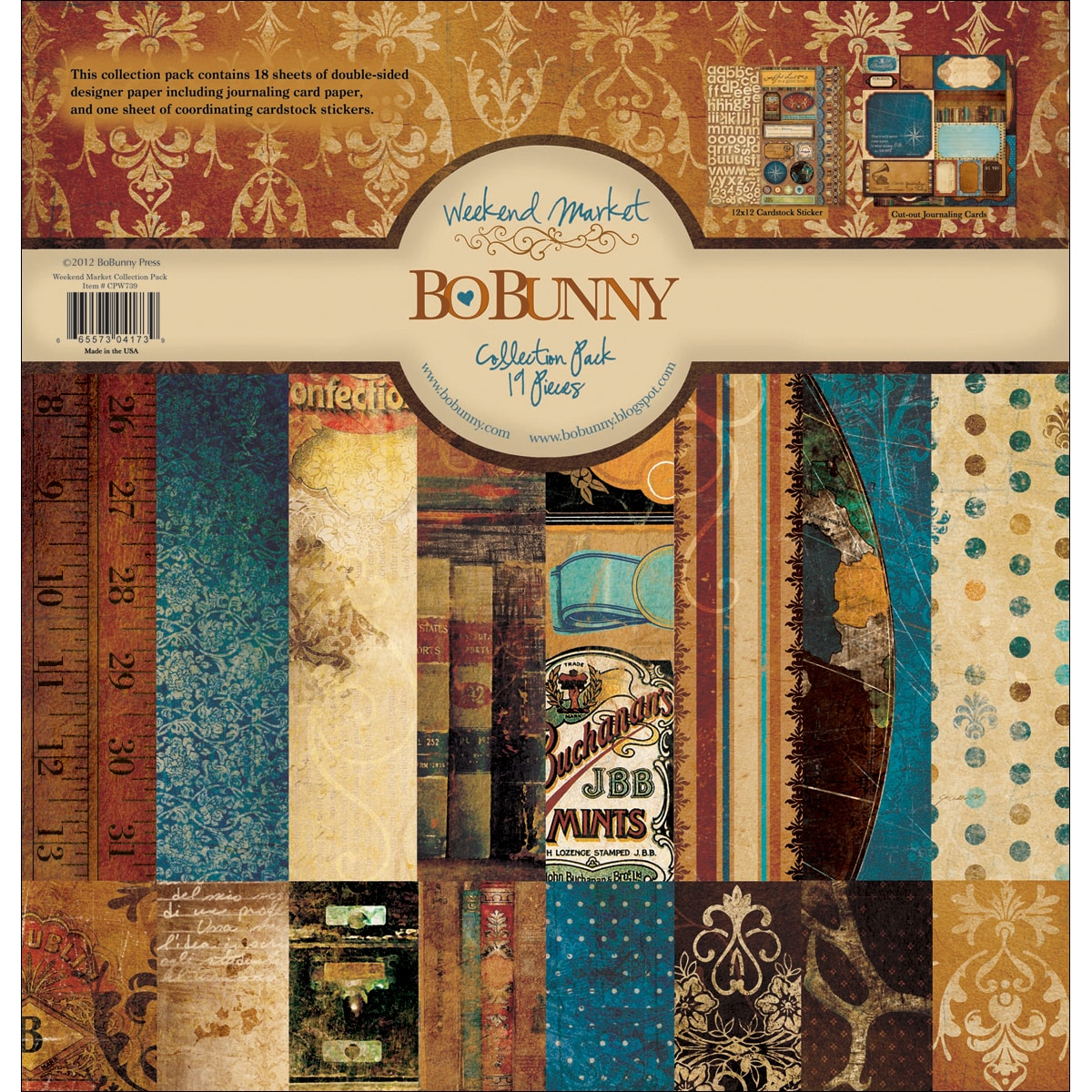 """Bo Bunny Weekend Market Collection Pack 12""""X12in"""