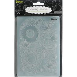 Darice 'Flower Frenzy' Embossing Folder Background 5X7in