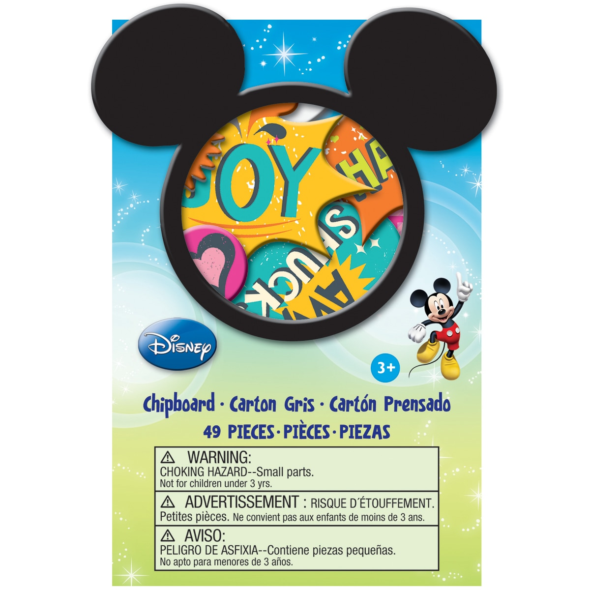 EK Success Disney 'Mickey Family' Chipboard Box (49/Pkg)