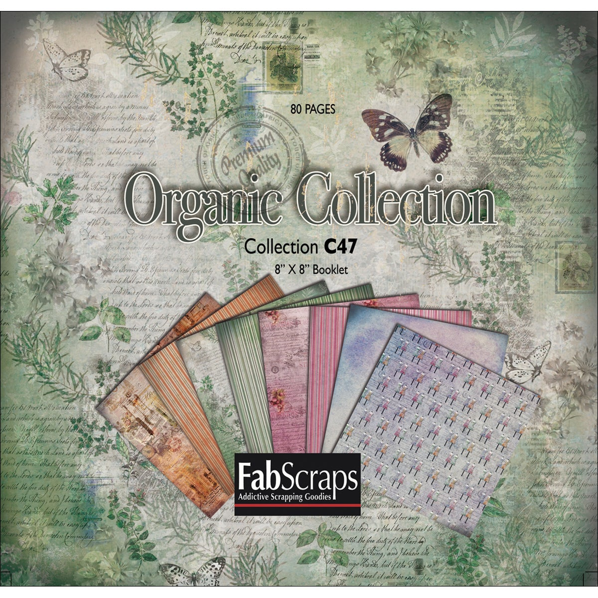 Fabscraps Organic Mini Paper Collection Booklet