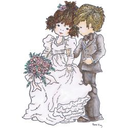 Stampavie Sarah Kay 'Happy Couple' Clear Stamp