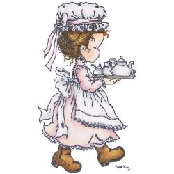 Stampavie Sarah Kay Clear Stamp-Tea Please