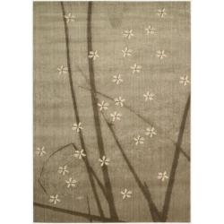Nourison Calvin Klein Home Woven Textures Mushroom Rug (3'6 x 5'6)