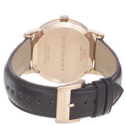 Burberry Men's 'Large Check' Brown Dial Brown Leather Strap Watch