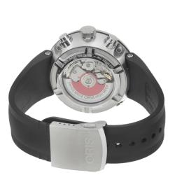 Oris Men's 'TT1 Chronograph' Black Rubber Strap Automatic Watch