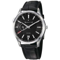 Zenith Men's 'Captain Elite' Black Dial Dual Time Automatic Watch
