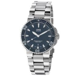 Oris Men's 'Aquis Date' Blue Dial Stainless Steel Automatic Watch