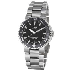 Oris Men's 01 733 7653 4154-07 8 26 01PEB 'Aquis Date' Black Dial Stainless Steel Automatic Watch