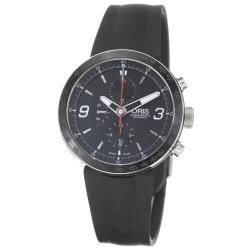 Oris Men&#39;s &#39;TT1 Chronograph&#39; Black Rubber Strap Automatic Watch