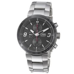 Oris Men's 'TT1 Chronograph' Black Dial Stainless Steel Watch