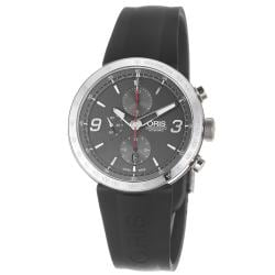 Oris Men&#39;s &#39;TT1 Chronograph&#39; Grey Dial Rubber Strap Automatic Watch