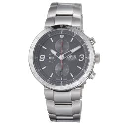 Oris Men&#39;s &#39;TT1 Chronograph&#39; Grey Dial Stainless Steel Automatic Watch